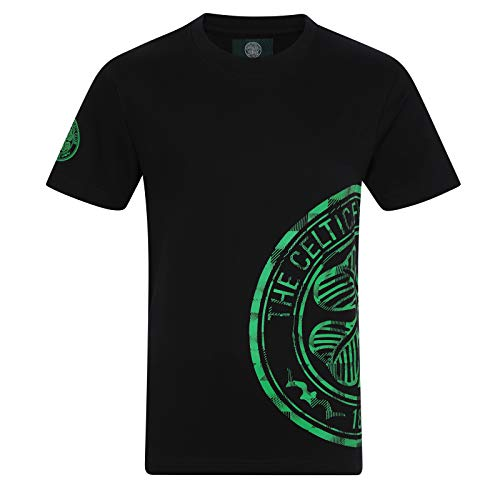 Celtic FC Official Soccer Gift Kids Graphic T-Shirt Black 10-11 Years