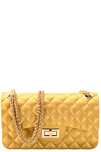 Luxury Handbags Designer (Luxury Silicone Quilted Crossbody Bag (THAI GOLD M))