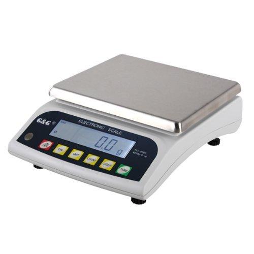 GundG PLC - Bilancia di precisione da tavolo PLC, per laboratorio, industria, oro, 6000g/0,1g, utilizzabile a batteria OfficeCentre PLC6000