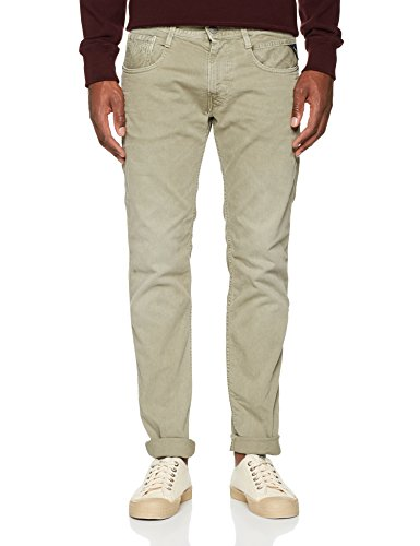 Anbass Slim light Replay Jeans Green Military Verde 190 Uomo PwHndnUfq