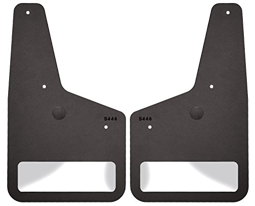 Husky Liners Stainless Steel Front Mudguard Insert for Select Chevrolet Models - Pack of 2 (Black)