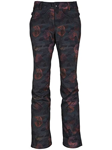 Rose Print Shell (686 Women's Gossip Softshell Pants Camo Rose Print Large)
