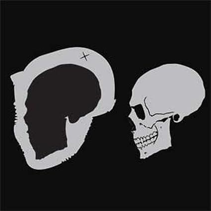Custom Shop Skull Stencil 2 Side Airbrush Template