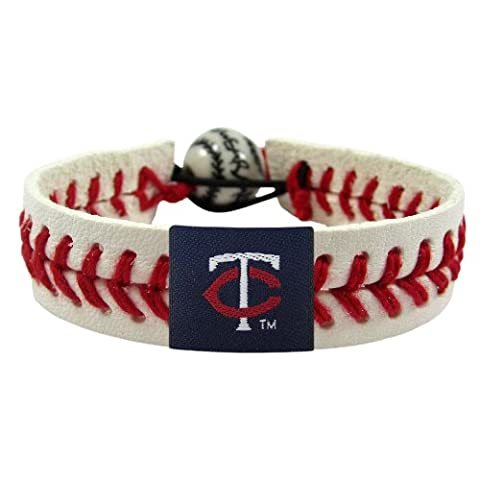 MLB Minnesota Twins Classic Baseball Bracelet - Gamewear Sports Bracelet