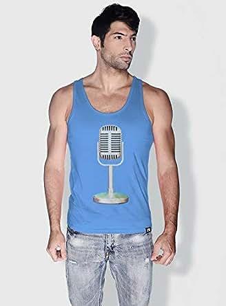 Creo Microphone Retro Tanks Tops For Men - M, Blue