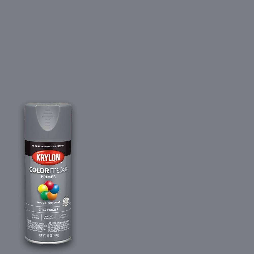 Krylon K05582007 COLORmaxx Spray Paint, Aerosol, Gray