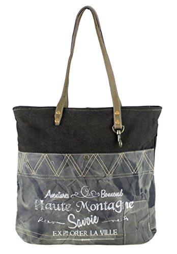 compra de de Sunsa 51767 mano hombro bolso Bolso Bolso Vintage de señora hecho con tela tela de cuero 7Unq5