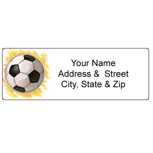 Soccer Address Label - Customized Return Address Label - 90 Labels - 1