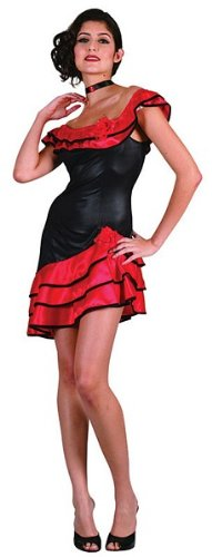 Bristol Novelty AC209 Spanish Lady Costume, Red, UK 10-14