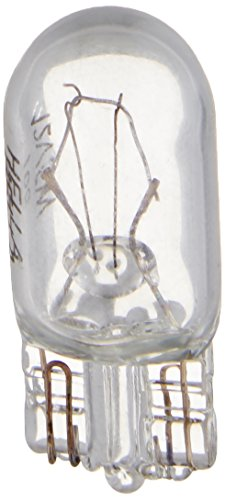 HELLA 168TB Twin Blister Standard Miniature 168 Bulbs, 12V, 5W, 2 Pack
