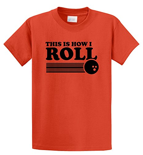 This is How I Roll Funny Bowling Shirt Orange L ()