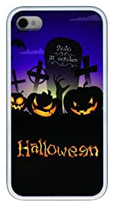 iphone 4 case silicone Terrible HALLOWEEN TPU White for Apple iPhone 4/4S