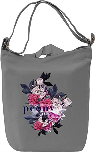 Peony Borsa Giornaliera Canvas Canvas Day Bag| 100% Premium Cotton Canvas| DTG Printing|