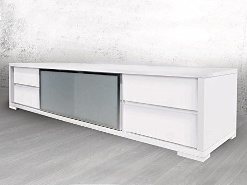 Casabianca Furniture Pineto Collection Lacquer Entertainment Center, White ()