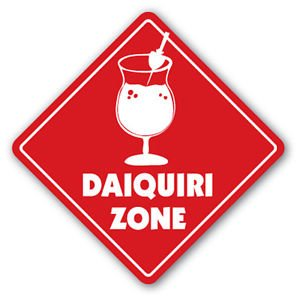 DAIQUIRI ZONE Sign Decal xing gift novelty drink frozen cocktail ()