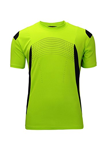 ZITY Sportswear Men's 100 Percent Polyester Moisture-Wicking Short-Sleeve T-Shirt Lime Green Large