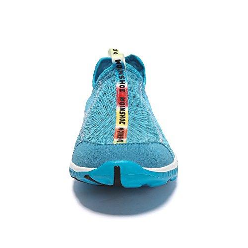 Wqinshoe Mens E Womens Mesh Slip On Aqua Water Shoes Asciugatura Rapida Sportivo Sportivo Sportivo Sneakers Con Occhiali Da Sole 02 Blu Chiaro