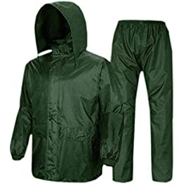 Woschmann® – Complete Rain Suit with Carry Bag Raincoat- (Free Size) (Green)