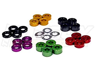 Integy RC Hobby C23235 Assorted Thickness (1mm to 4mm) Shim Washer M4 Size