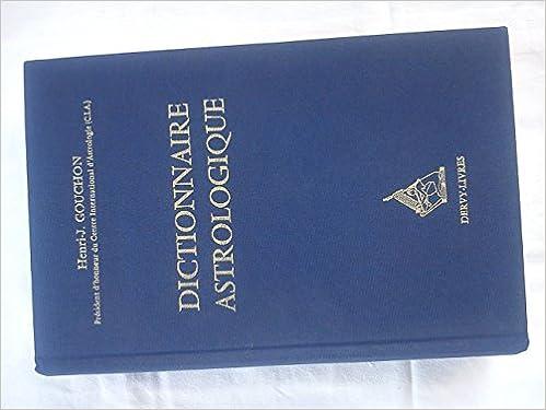 DICTIONNAIRE ASTROLOGIQUE pdf, epub ebook