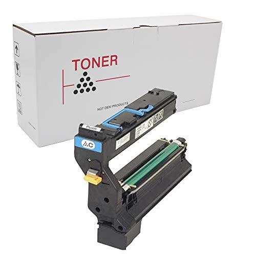 (Hehua 1710580-002 Compatible Cyan Toner Cartridge Konica-Minolta 1710580-001 1710580-002 1710580-003 1710580-004 Use Printer Magicolor 5430, 5430DL, 5440, 5440DL (Cyan))