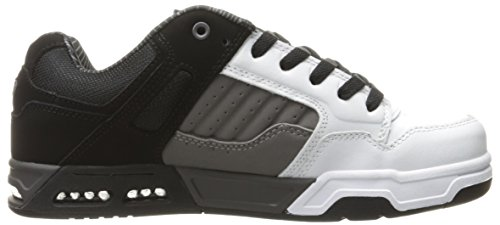 DVS Enduro Heir Black Charcoal White Leather Negro