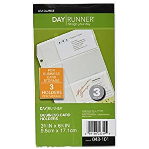 Day Runner Side-Loading Business Card Holder, Clear, 3.75 x 6.75 Inches (043-101)
