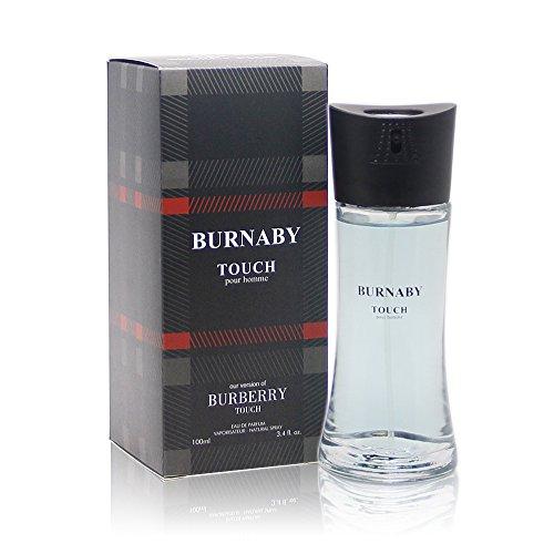 BURNABY TOUCH POUR HOMME, 3.4 fl.oz. Eau de Parfum Spray for Men, Perfect Gift