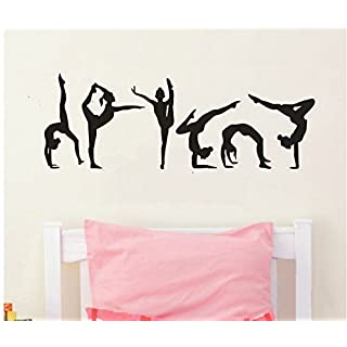 YOYOYU Six Dance Girls Gymnastics Wall Sticker Sport Vinyl Art Wall Mural  Sticker Home Decoration Wall