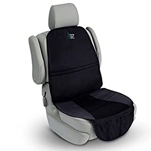 Universal Car Seat Protector – Extremely Durable with Non-Slip Backing – Increased Safety for your Child or Baby. Leak…