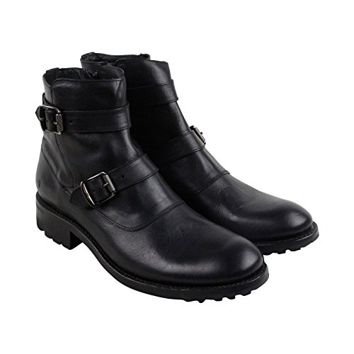 FRYE Men's Stanton Moto Motorcycle Boot, Black, 9.5 D US