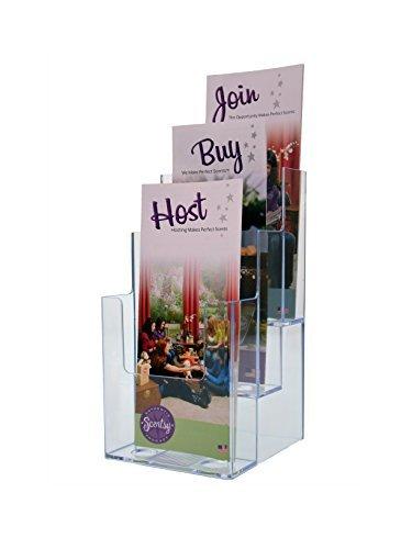 Marketing Holders 3 tier Slatwall brochure holder flat back tri fold pamphlet literature (pack of ()