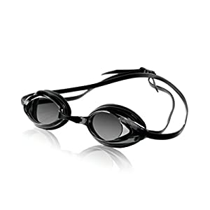 Speedo Vanquisher Optical Swim Goggle, Black/Smoke, Diopter -4.0