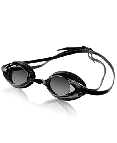 Speedo Vanquisher Optical Swim Goggle, Black/Smoke, Diopter - With Swimming Goggles Lenses