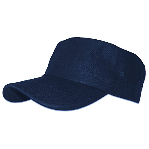 Blue Hemp Hat - Hemp & Organic Cotton Military Cap - Navy Blue Hat by Fair Hemp