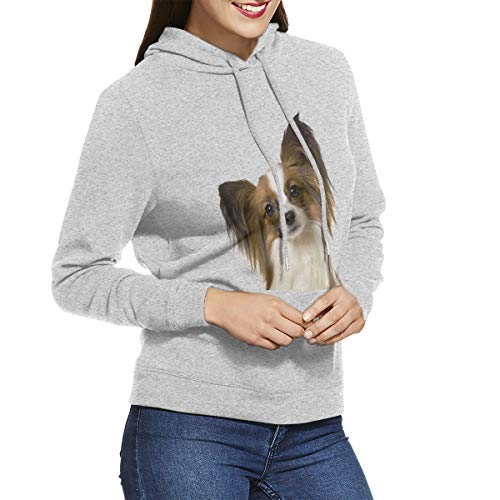 (Lovely Papillon Womens Hoodie Sweatshirt Pullover)