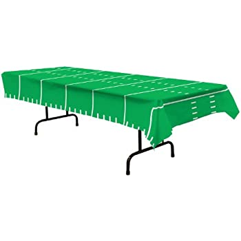 "Beistle Game Day Football Tablecover Party Accessory (1 count) (1/Pkg) (108"" X 54"")"