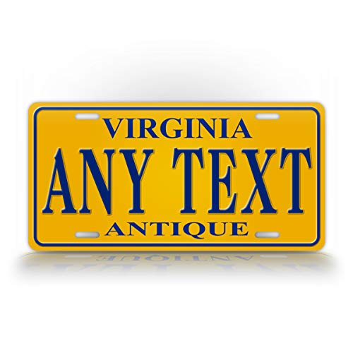 - SignsAndTagsOnline Custom Antique Virginia State License Plate VA Replica Personalized Text Novelty Auto Tag