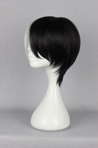 Cosplay Wigs Short Black and White Monokuma Dangan Ronpa for Anime Party Hair 30cm