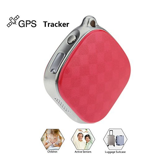 Hangang Mini Locator Micro A9 GPS Tracker Wifi Positioning Tracker Multifunction tracker Locator GPS+LBS Dual Modes Locating Device Tracking SOS Alarm Voice Monitoring For Vehicle,Elderly(Red)