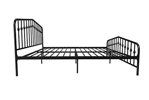 41iiM%2B9Q9nL - Novogratz Bushwick Metal Bed, Modern Design, Full Size - Black