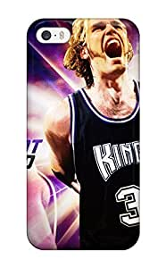 5/5s Scratch-proof Protection Case Cover For Iphone/ Hot Sacramento Kings Nba Basketball (50) Phone Case