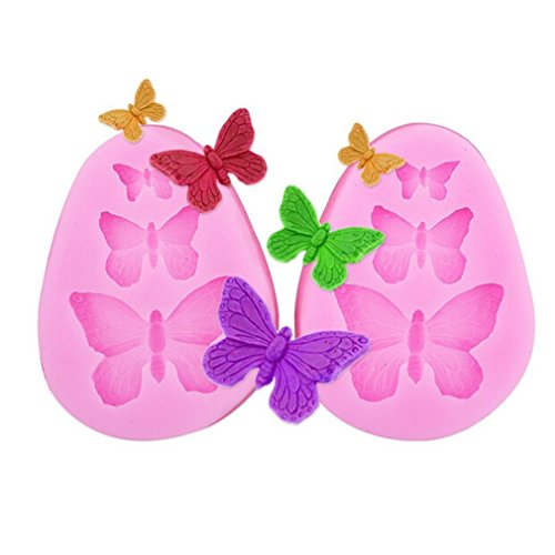 1pcs Butterfly Silicone Fondant Mold Cake Jelly Molds Kitchen Baking Tool Chocolate Mould By HaiLi (Mold Chocolate Butterfly)