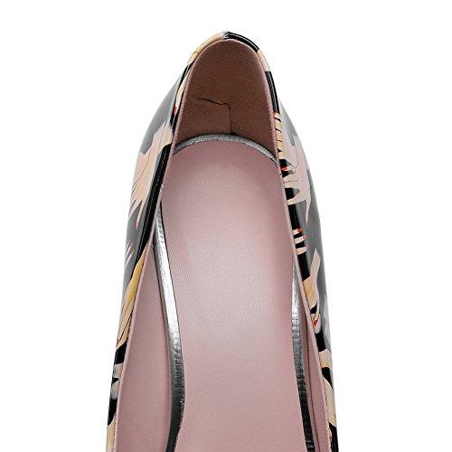 Balamasa Dames Slip-on Spikes-stilettos Diverse Kleur Microfiber Pumps-schoenen Zwart