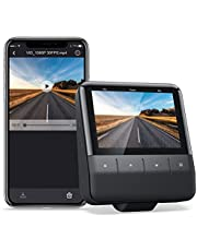 Wi-Fi Dash Cam with App, 1080P Full HD Car Camera Sony Starvis Sensor, IPS Display, Night Vision, Parking Monitor, Motion Detection, Support 128G Max and GPS
