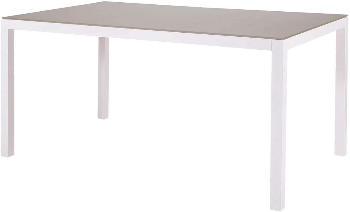 Mesa de Comedor. Aluminio de Exterior Primera Calidad y Cristal ...