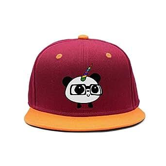 Panda Unicorn Cute Rainbow Unisex Maroon Adjustable Peak
