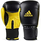 Luva de Boxe Adidas Power 100 Colors - Preto e Amarelo