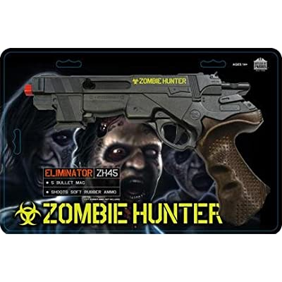 Parris Zombie Hunter Toy Air Soft Gun with 20 Soft Rubber Ammo: Toys & Games