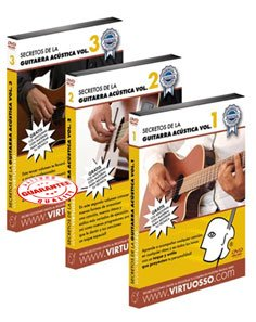 Virtuosso Acoustic Guitar Full Method in 3 DVD (Curso Completo De Guitarra Acustica En 3 DVD) SPANISH ONLY by Virtuosso